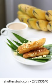 Fried banana (pisang goreng), a popular snack in Malaysia, Singapore, Indonesia and Thailand.