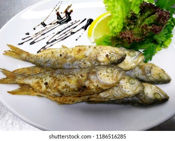 Fried Black Sea fish.