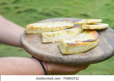 Fried breadfruit is a great delicious staple food. In Nicaragua bread fruit tree can be found along the Caribbean coast and on the islands. Shallow depth of field.