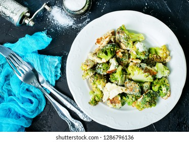 fried broccoli with eggs and aroma spice