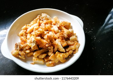 Fried carrot cake or Cai Tau Kueh, is popular local delicacy in Malaysia among Chinese