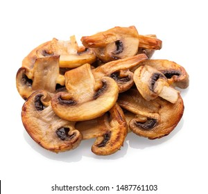 Fried champignon isolated on white background