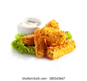 Fried Cheese Sticks with Tartar Sauce