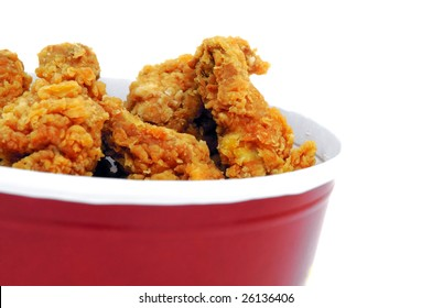 fried chicken in basket