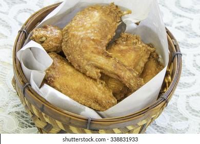 Fried chicken in basket