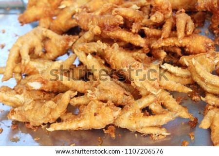 Fried Chicken Feet Street Food Stock Photo Edit Now 1107206576