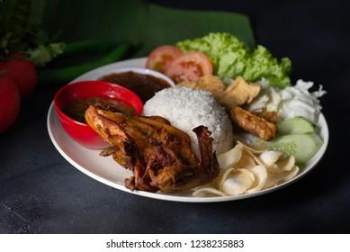 Fried Chicken Nasi Lemak