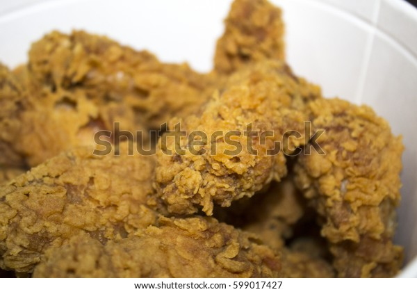 fried chicken nuggets food