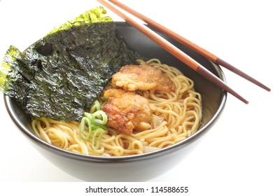 fried chicken ramen noodle