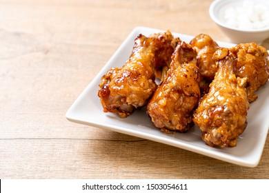 fried chicken with sauce in Korean style