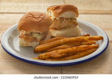 fried chicken sliders