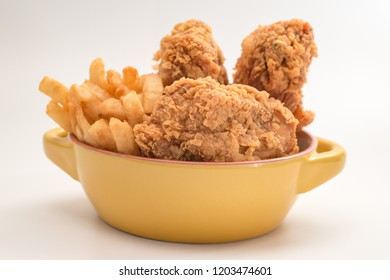 fried chicken southern style with potato and drink menu