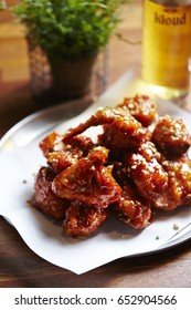 Fried chicken with sweet sauce