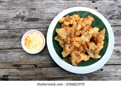 Fried chicken in Thai food