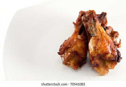 fried chicken wing on dish