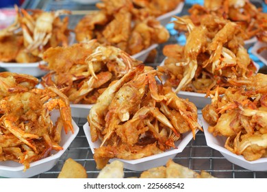 Fried crab asia food