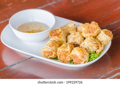 Fried crab shell