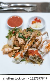 Fried crab with vermicelli suki noodle