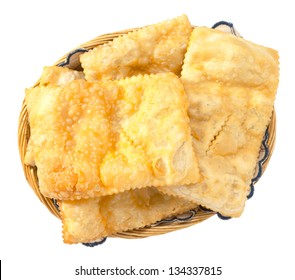 Fried dumplings in the basket