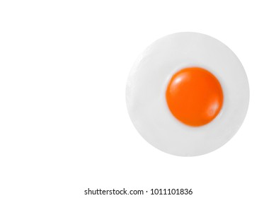 Fried egg isolated on white background, ( isolated on white and clipping path )