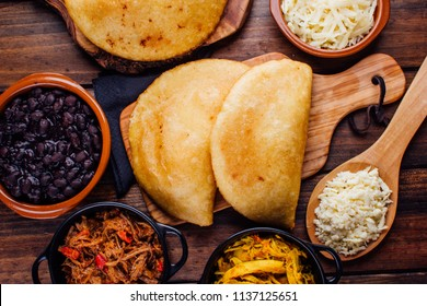 Fried empanadas and some ingredients