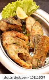fried fillet carp