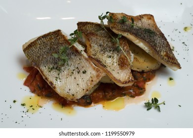 fried fish closeup