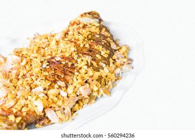 Fried fish and garlic