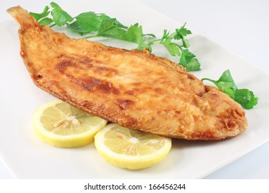 Fried fish lemon sole