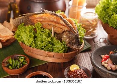 fried fish ndonesian traditional food