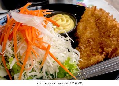 Fried fish salad