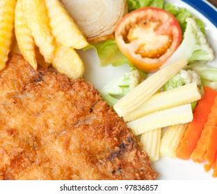 fried fish steaks, street food style