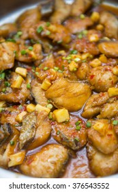 fried fish with sweet and sour, food