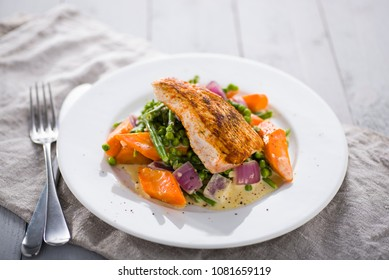 fried fish and vegetables
