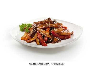 Fried Foods - Meat with Vegetables