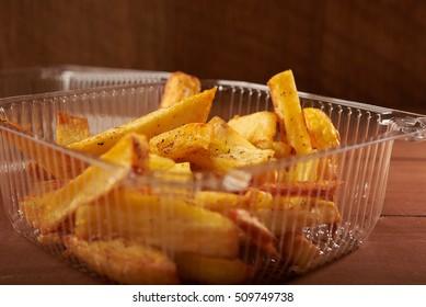 fried French fries  in paper cup