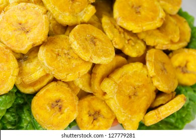 Fried Green Plantains or Tostones