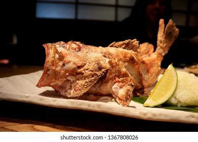 Fried Kasago, Japanese fish food