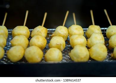 Fried Milk in Taiwanese Night Market