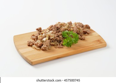 Fried minced meat with onion