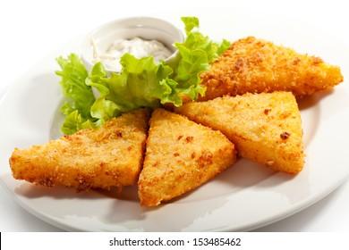 Fried Mozzarella with Tartar Sauce