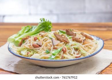 fried noodles cuisine