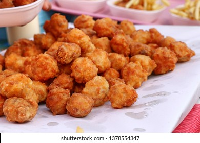 fried nuggets at street food
