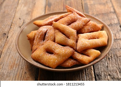 fried pastry- traditional french bugnes for canival
