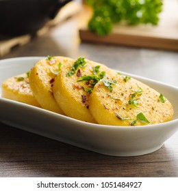 fried polenta with herbs and chili salt