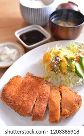 Fried pork chops, tonkatsu