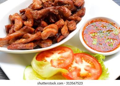 Fried pork - Dry pork
