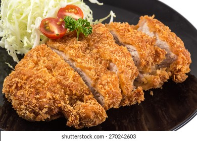 Fried pork meat - japanese food style tonkatsu