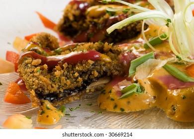 fried portabella mushroom
