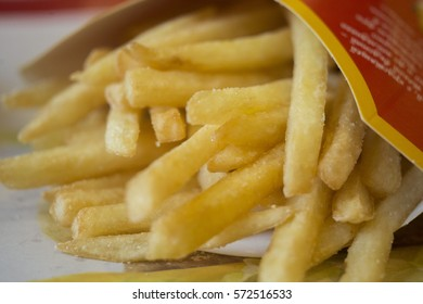Fried potatoes, close up